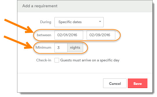 04 - Dates and Minimum Stay